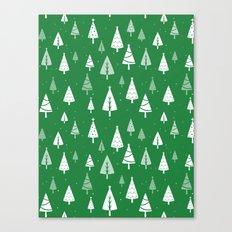Christmas Tree Pattern (Green) Canvas Print