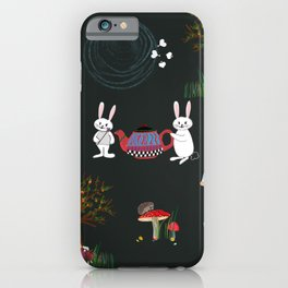 Alice's Adventures in wonderland pattern iPhone Case