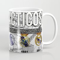 real madrid Mugs featuring REAL MADRID by sokteulu