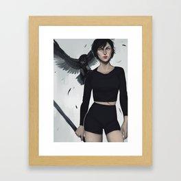 Two Hawks Framed Art Print
