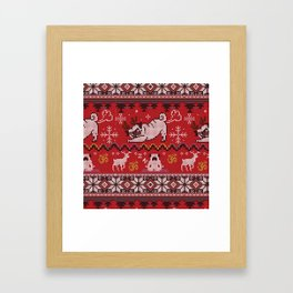 Pugly Yoga X-Mas Framed Art Print
