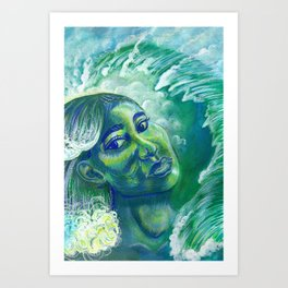 Sea Bottle Glass Art Print