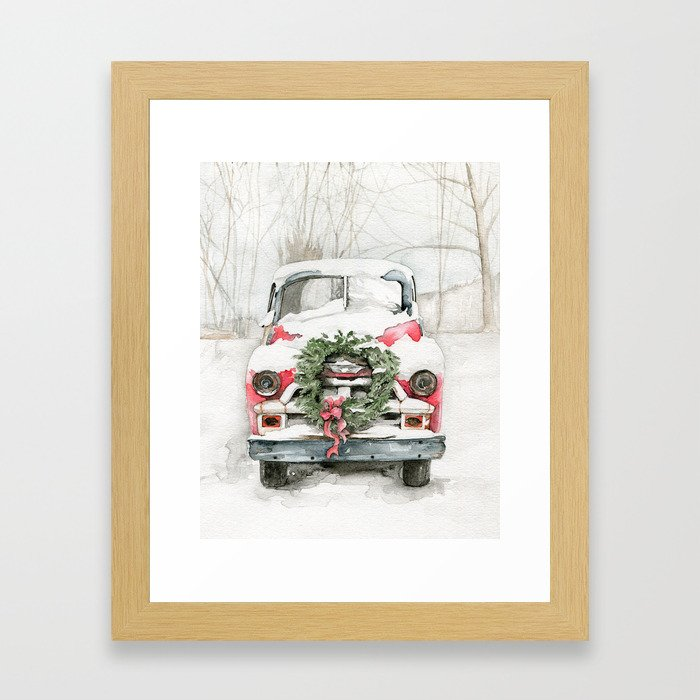 Dad's Old Chevy Framed Art Print