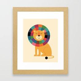 Mr. Confidence Framed Art Print