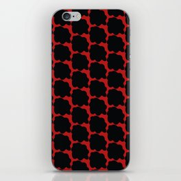Red with black spots iPhone Skin