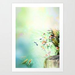 Fish watercolor Art Print