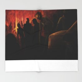 The Ravenous Undead Throw Blanket