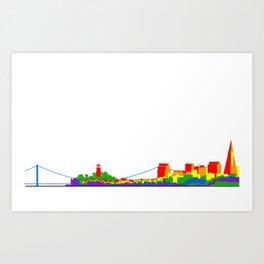 Pride City Art Print
