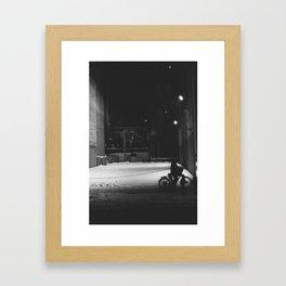 Bicycle at Night Framed Art Print