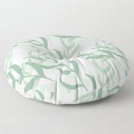 Summer Abstract Seamless Pattern With Colorful Leaves And Plants Floor Pillow