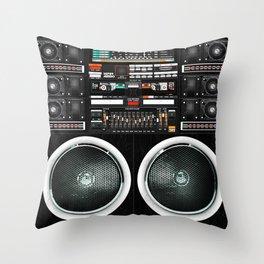 Boombox Ghetto J1 Throw Pillow