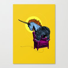 Get off the furniture, Unibear Canvas Print