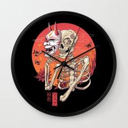 Hannya Yokai Mask Wall Clock