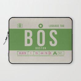 Luggage Tag B - BOS Boston USA Laptop Sleeve
