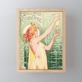 Absinthe Robette 1896 by Henri Privat Livemont Art Nouveau Vintage Poster 1896 Artwork for Prints Po Framed Mini Art Print