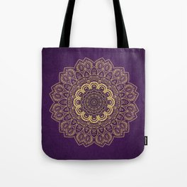 Golden Temptation on Light Purple Background Tote Bag
