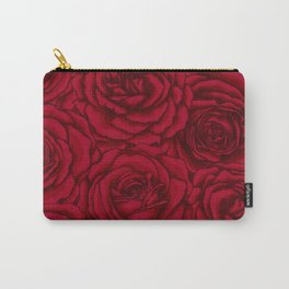Feminine red roses pattern Carry-All Pouch