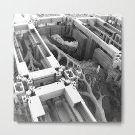 Overrun Futurescape Metal Print