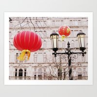 lanterns Art Prints featuring Lanterns by Judith Kimber Photography