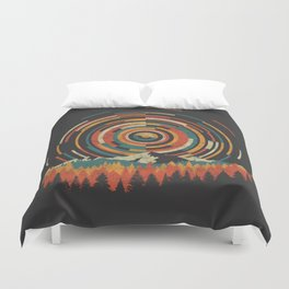The Geometry of Sunrise Duvet Cover
