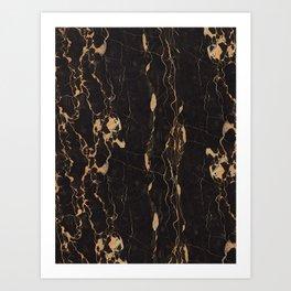 Real Marble Oro Art Print