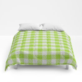 Yellow Green Buffalo Plaid Comforters