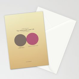 The Unfortunate Love Life (A Venn Diagram) Stationery Cards
