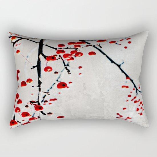Red Splash Rectangular Pillow