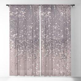 Sparkling Mauve Lady Glitter #3 #shiny #decor #art #society6 Sheer Curtain