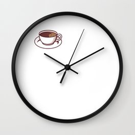 But First Coffee - Funny Caffeine Cafe Gift Wall Clock