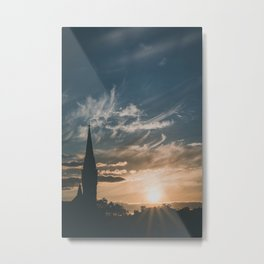 Tower in the Sunset Metal Print