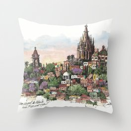 Sunset over San Miguel de Allende Throw Pillow