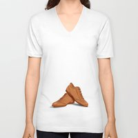shoes V-neck T-shirts featuring shoes by ErsanYagiz
