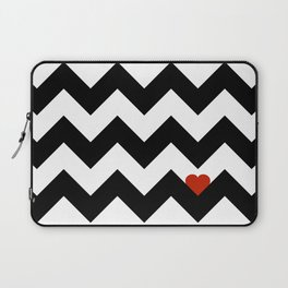 Heart & Chevron - Black/Classic Red Laptop Sleeve