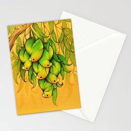Parrot mangoes Stationery Cards
