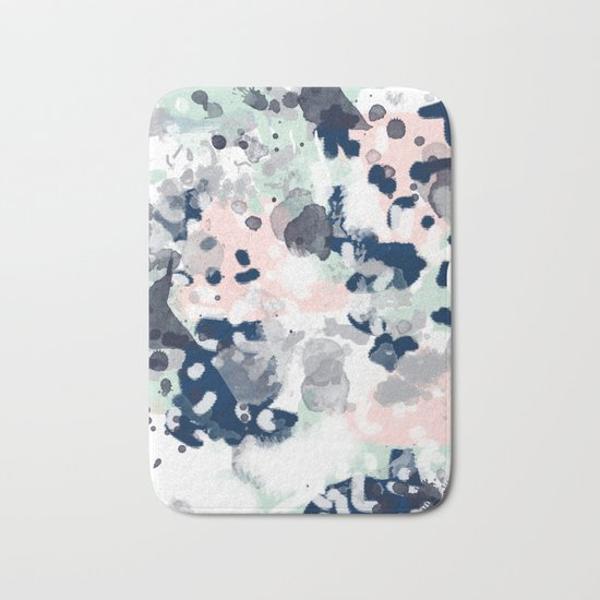 Tate - abstract modern minimal painting art nursery baby office home decor minimalist modern nursery Bath Mat