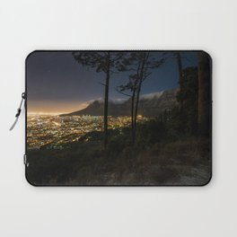 Cape Town city and Table Mountain at night Laptop Sleeve