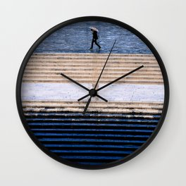 Blue and rain Wall Clock