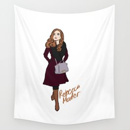 Rebecca Mader (strolling in Chicago, 2018) Wall Tapestry