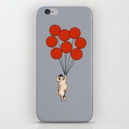 I Believe I Can Fly Pug iPhone Skin