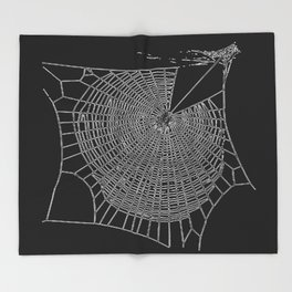 A Large Illustration Of A Spider's Web Throw Blanket