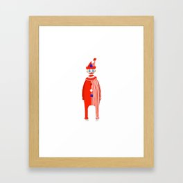 Spooky Halloween Clown Serial Killer John Wayne Gacy Framed Art Print