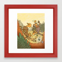 Brain Fox Framed Art Print
