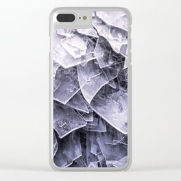 Cracked Ice Tiles In Lake Shore #decor #buyart #society6 Clear iPhone Case