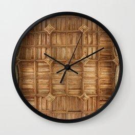 Wooden church ceiling  Wall Clock