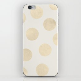 Gold Polka Dots iPhone Skin