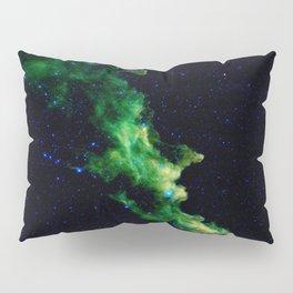 Galaxy: Green Witch's Head Nebula Pillow Sham