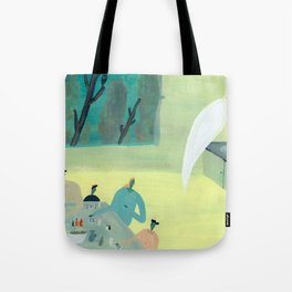 Ghost Does Dishes Tote Bag