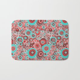 Poppies in the rain Bath Mat