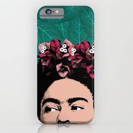Frida Kahlo Floral Portrait iPhone Case